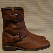 Очень красивые кожаные полусапожки шоколадного цвета Gabor Германия 6 1/2 р.