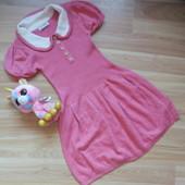 Фирменное теплое платье Next  малышке 4-5 лет состояние отличное