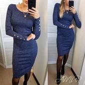 Классическое платье ангора 6 цветов р-ры 42-54
