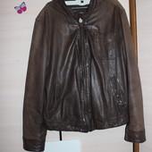 стильна шкіряна куртка Massimo Dutti (Массимо Дутти)