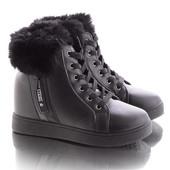 Стильные женские зимние короткие спортивные ботинки