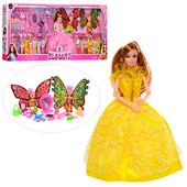 Кукла с нарядом 188XP-3, высота 28 см, 2 дочки 10 см, платье 16 шт