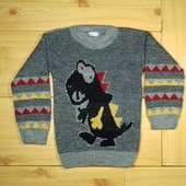Детский свитер для мальчика Дракон рр. 92-110 2 цвета Beebaby (Бибеби)