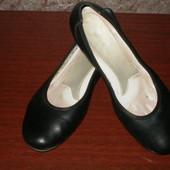 Кожаные туфли женские Rieker 40р. стелька 26см.