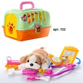Набор игровой  ветеринар,доктор с чемоданом и собачкой+инструменты