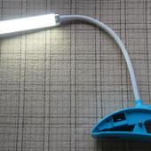 Фонарь лампа  11SMD на прищепке. На аккумуляторах и на солнечной батарее
