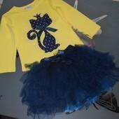 Комплект юбка пачка котик Breeze котик 5 лет
