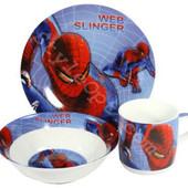 """Детский набор посуды из керамики """"Человек Паук"""""""