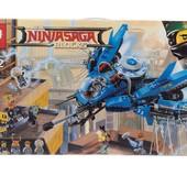 конструктор lepin 06050 ninjago movie самолёт-молния джея (аналог lego ninjago 70614)