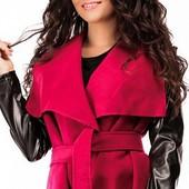 Стильное женское кашемировое пальто-кардиган