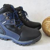Ботинки на шнуровке с молнией и овчине 33 р на 20,5 см