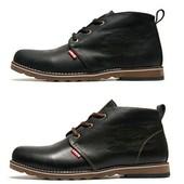 Ботинки Levi's, зимние на меху, син, черн, коричн, р. 45. код kv-3814