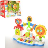 Игра BB 357 для малышей. пианино. муз,звук,свет, погремушка, трещотка, часы