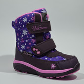 Термоботинки, сапоги зимние для девочки B&G-Termo арт. BG187-55 фиолетовые
