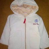 Вельветовая куртка-ветровка на 1-2 года
