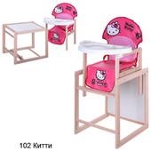 Виваст MV 102 Хелов Китти стульчик 2 в 1 для кормления vivast Hello kitty