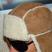 Стильная фирменная шапка ушанка Next 56-58