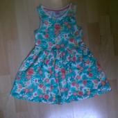Фирменное трикотажное платье 3-4 года