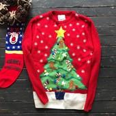 Новогодний мужской свитер с объемной вязкой Cedarwood State рр Л
