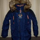 Куртка зимняя для мальчиков 128,140 Венгрия 2 цвета