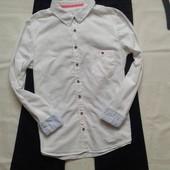 Базовая хлопковая рубашка H&M ( L )