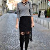 38/S*Naf-Naf*Франция,оригинал!серый свитер,джемпер,кофта вискоза