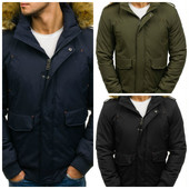 Зимняя мужская куртка бомбер