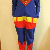 "Пижама кигуруми слип человечек ""Superman"" размер M, Cedarwood state на рост 170-177см"