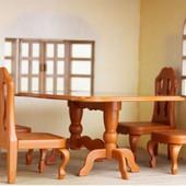 Стол и 4 стула качественный аналог Sylvanian Family.остатки Сп