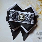 Стильный галстук, школьный галстук с камеей