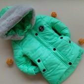 р 92,98,104,110 Зимнее стильное пальто для девочки.