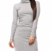 Размеры 42-48 Элегантное женское ангоровое платье