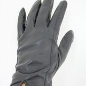 Мужские перчатки, кожа, зима.