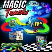 Оригинал Magic Tracks 220 деталей 5 Led 2 Батарейки
