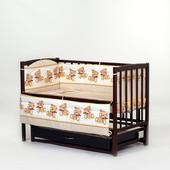 Защита в детскую кроватку новорожденным. Разноцветные бортики