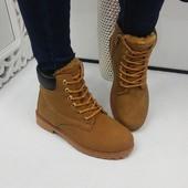 Зимние нубуковые ботинки Timber. Р.36-41