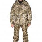 Куртка утепленная зимняя камуфляж китель пиксель военная тактическая