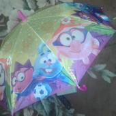 Детский зонт трость,хорошего качества