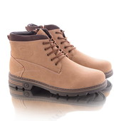 Зимние короткие мужские ботинки на меху