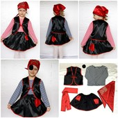 Детский карнавальный новогодний костюм Пират (девочка)