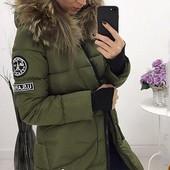 Размеры 42-54 Зимняя женская куртка-пуховик
