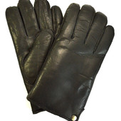 Мужские кожаные перчатки на натуральной овчинке ( на пол руки )