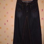 Длинная джинсовая юбка levi's