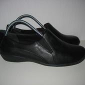 Комфортные туфли Clarks 39р 25см кожа