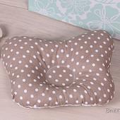 Ортопедическая подушка для новорожденных в горошек