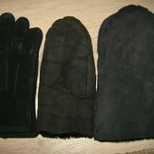 натуральные мужские варежки перчатки рукавички