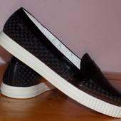 Фирменная кожаная стильная обувь от GEOX 39-39.5 р - Сост хорош