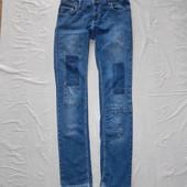 W30 L33, поб 44-46 эксклюзив! узкачи! джинсы заплатки