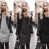 Зимнее платье (40-52рр) на меху, очень теплое