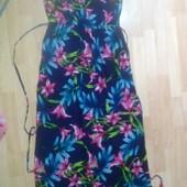 Фирменное лёгкое платье в пол сарафан L-XL